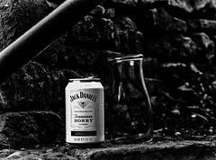 Honey (Malc '64') Tags: jackdaniels can drink glass lemonade honey wall brick monochrome blackandwhite