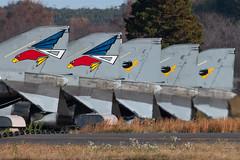 JASDF F-4E Phantom Tails Hyakuri AB, Japan (Vortex Photography - Duncan Monk) Tags: jasdf phantom f4 f4e tail line up hyakuri ab airbase ibaraki japan