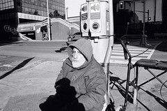 "Shadow play (10) ""Tony"" (Xsbmrnr (Please read profile before ""following"") Tags: blackandwhite bandw downtown documentary 35mm 35mmfilm film filmphotography hamilton hamiltonontario homelessness olympusom1 olympus om1 people photojournalism poverty photoessay street streetphotography streetpeople urban urbanphotography zuiko zuiko28mm"