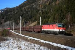 1144 284, GAG 48400. Kolbnitz (M. Kolenig) Tags: 1144 tauernbahn schnee wald baum
