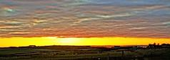 Longhaven panoramic. (artanglerPD) Tags: sunset sky sheep old railway line spire cruden bay