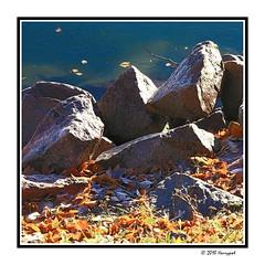 rocks (harrypwt) Tags: harrypwt helsinki finland autumn 40d 18200 11 square rocks oaintinglike borders framed
