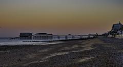 Autumn Sunset, Cromer Pier, UK (desimage) Tags: cromer pier nordsee northsea norfolk coast seaside beach england sunset november uk eastanglia pastels light damage desgould evening