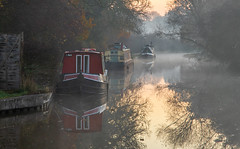 The canal (Maisiebeth) Tags: cold canal ellesmere shropshire barge narrowboat boat water sunrise morning