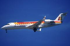 Air Nostrum CRJ-200ER EC-INF BCN 05/06/2004 (jordi757) Tags: airplanes avions nikon f90x kodachrome kodachrome64 bcn lebl barcelona elprat bombardier canadair crj200 airnostrum ecinf