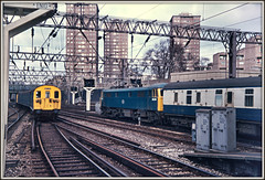 A trip down Memory Lane, NW1 (david.hayes77) Tags: london euston class86 1974 86218 e3175 londondistrictemu class501 m61145 m70145 m75145 westcoastmainline wcml stpancras kingscross nw1 memorylane