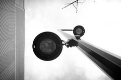 Street light - Film Leica (Photo Alan) Tags: blackwhite blackandwhite monochrome light pole wall street streetphotography streetfilm film filmcamera filmscan leica filmleica leicamp vancouver canada city cityscape