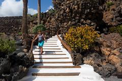 Lanzarote (piotr_szymanek) Tags: marzka woman milf portrait outdoor face eyesoncamera shorts lava cave steps blue sky clouds 1k 5k 20f 10k