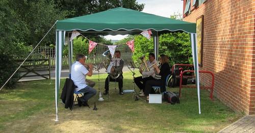 "An ""informal concert"" - 5 Piece group at Hawkhurst Primary School Headteacher Retirement Party"