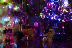 Christmas in progress (priolo_vittoria) Tags: party fiesta christmastree christmas tree gifts light walle balls nyanboard holidays christmasdecoration merry lighting boxes christmaslights air nyan danbo happy danboard bokeh lights presents decor toys december christmasballs