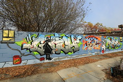 gouch bie1 ribs (Luna Park) Tags: ny nyc newyork brooklyn graffiti production mural lunapark gouch bie ribs spyvsspy spyvspy bie1 bie1mog