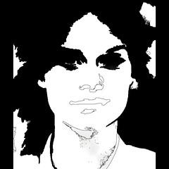 theresa (j.p.yef) Tags: peterfey jpyef yef people girl youngwoman theresa monochrome bw sw digitalart photomanipulation square portrait face bestportraitsaoi