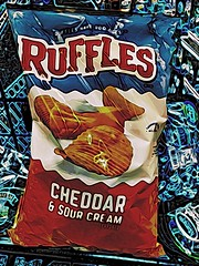 2019 017/365? Supernormal Stimulations (_BuBBy_) Tags: savory orange colour color salt fat crunch cheese camera2 modulehanga bitpoem bag crinkle food junk snacks snack 365 2019 days 017365 017 potato chips cream sour cheddar ridges has ruffles stimuli stimulation stimulations normal super supernormal
