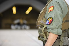 Ala 15 Base Aérea de Zaragoza (Ejército del Aire Ministerio de Defensa España) Tags: aviación aviation avión airplane plane piloto pilot monodevuelo fuerzaaérea ejércitodelaire f18 mcdonnelldouglas hornet ala15 hangar parche airbase base aérea zaragoza