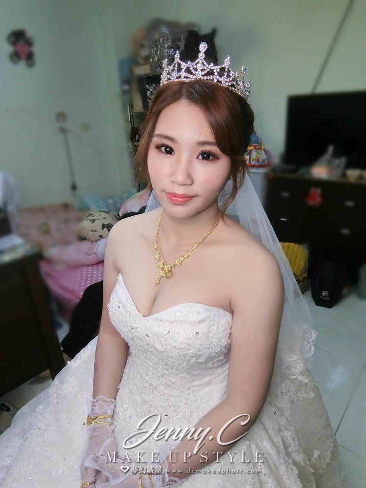 【新秘蓁妮】bride珈虹 訂婚造型 /台南自宅