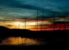 Je voudrais changer les couleurs du temps, changer les couleurs du monde (buch.daniele) Tags: danielebuch port voilers mats turquoise jaune rouge orange noir eau ciel reflets black water red yellow boats