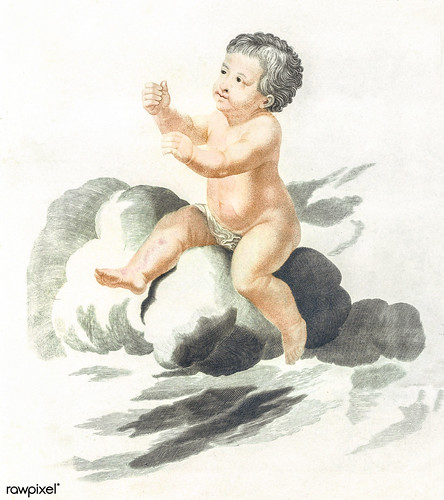 A naked child by Johan Teyler (1648-1709). Original from The Rijksmuseum. Digitally enhanced by rawpixel.