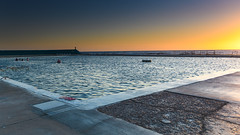 Newcastle Baths at Sunrise (Merrillie) Tags: daybreak baths sunrise newcastle water people newsouthwales sea earlymorning nsw swimmers seapool ocean seascape morning swimming landscape swimmingpool outdoors waterscape nature australia sky dawn