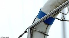 Blue (patrick_milan) Tags: blue bleu marine metal accastillage bouée buoy boat ship mer buoyant