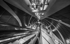 wide & deep (Blende1.8) Tags: heumarkt underground heliarhyperwide voigtländer voigtlaender 10mm metro subway tunnel escalator rolltreppe bahnhof station ubahn köln cologne lines curves deep urban city koeln perspective sony alpha ilce7m3 a7m3 a7iii emount