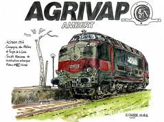 Agrivap (sylvain.cnudde) Tags: agrivap micheline locomotive train dessin drawing sketch auvergne watercolor aquarelle alsthom sncf