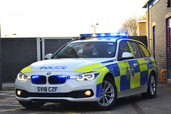 SV18 CZF (S11 AUN) Tags: durham constabulary bmw 330d 3series xdrive touring anpr police traffic car rpu roads policing unit 999 emergency vehicle sv18czf