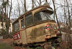 Tram head (Schwanzus_Longus) Tags: bremen hemelingen german germany forgotten abandoned urban exploration urbex old classic vintage tram streetcar bsag strasenbahn hansa grosraumwagen