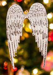 Angel Wings (jah32) Tags: ornaments christmas christmascard christmastree merrychristmas happychristmas bokeh angels angel wings light lights christmaslights