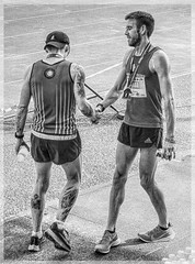 The Will Of This Heart 26 (lightandform) Tags: men masculinity rough rugged strong brave hard determined black white monochrome powerfull runners bw alpha race compete man energy challenge portrait tension face close hero