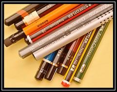 """Lead In My Pencils..."" -- MACRO MONDAYS - 14.01.19 - ""Hobby"" (NikonShutterBug1) Tags: macro closeup nikond7100 macromondays tokina100mm spe smartphotoeditor hobby pencils lead sundaylights"