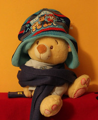 Warming up (Argyro Poursanidou) Tags: toy teddy bear cap still life warmingup warmth