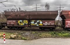 24_2019_01_16_Gelsenkirchen_Bismarck_6185_025_DB_mit_gem_Güterzug ➡️ Bottrop_Süd (ruhrpott.sprinter) Tags: ruhrpott sprinter deutschland germany allmangne nrw ruhrgebiet gelsenkirchen lokomotive locomotives eisenbahn railroad rail zug train reisezug passenger güter cargo freight fret bismarck bottropsüd ctd captrain db hctor hhpi 0632 1266 1232 1261 6152 6185 6187 6241 class66 vtgch rb42 hochspannungsmast kraftwerk herne dorsten dortmund logo natur outdoor graffiti