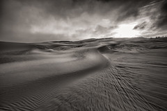 Simple Elements (James Duckworth) Tags: sand sky sun dunes wind ripples minimalism