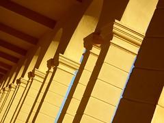 inclinazione fotografica (fotomie2009) Tags: savona liguria italy italia cimitero vado ligure colonne yellow architettura architecture columns column archi arches arch