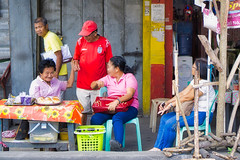 Ma Baker (Beegee49) Tags: street people selling snacks food bread elderly happy planet filipina sony a6000 luminar silay city philippines asia