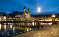 Lucerne at night (Mr.webi) Tags: nacht night luzern langzeitbelichtung architektur see sonnenuntergang stadt city