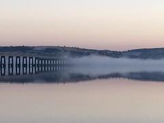 Tay Rail Bridge Shrouded in Fog (fife flickr) Tags: dundee mist winterfog river railbridge tay