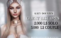 CLIENT LIST OPEN!!! (A. Doutzen) Tags: client list open taking clients photoshop photograpy art second life secondlife