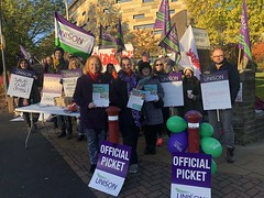On the picket line with striking University of Bradford staff