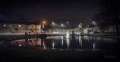Norton at Night December 2018-1 (Simon McCabe) Tags: norton simonmccabe night light water pond stockton tees teeside