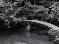 The bridge (Tim Ravenscroft) Tags: bridge pond garden shorenin temple kyoto japan hasselblad hasselbladx1d monochrome blackandwhite blackwhite
