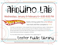 Arduino 5 Week Class (Lester Public Library) Tags: 365libs lesterpubliclibrary librariesandlibrarians lpl library lesterpubliclibrarytworiverswisconsin libraries librarian libraryprogram libraryprograms publiclibrary publiclibraries arduino coding computers computerscience digitalliteracy hotwheels wisconsinlibraries readdiscoverconnectenrich