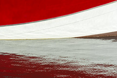 Red and white Reflection (Jan van der Wolf) Tags: map175509vv reflection spiegeling red redandwhite rood water white boot ship schip boat