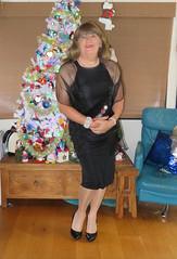 Ready for my dinner date (Trixy Deans) Tags: crossdresser cute cd crossdressing crossdress classic curves tightdress hot highheels heelssexy heels sexy sexyheels sexytransvestite sexylegs xdresser pink pearls