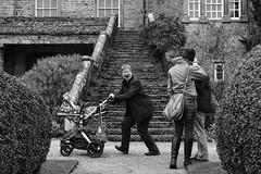 Aileen 'photobomb' (timnutt) Tags: sizergh sizerghcastle cumbria 35mm children garden xt2 bw acros monochrome lancashire mono fuji fujichrome family blackandwhite 35f2wr fujifilm
