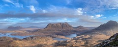 Wee bit of Quinag, then Suilven, Canisp, Cul Mor and Cul Beag. From Stac Pollaidh. (diggums) Tags: mountains stacpollaidh scotland canisp corbetts assynt suilven