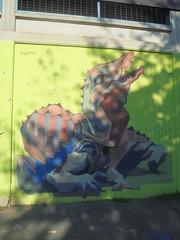 899 (en-ri) Tags: chofele coccodrillo cocodrile verde marrone torino wall muro graffiti writing