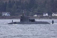 Royal Navy nuclear attack submarine HMS Astute, S119 (SSN); Loch Long, Scotland (Michael Leek Photography) Tags: submarine attacksubmarine nuclearsubmarine nuclear astuteclass rn royalnavy britainsarmedforces britainsnavy nato westcoastofscotland westernscotland argyllandbute argyll lochlong firthofclyde hmnbclyde hmnb hmsneptune faslane gareloch scotland scottishcoastline scottishlandscapes scotlandslandscapes scottishshipping blairmore strone cowal cowalpeninsula kilcreggan michaelleek warship navalvessel michaelleekphotography