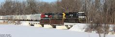 NS 7631 (Jonah Arndt) Tags: ns norfolksouthern ferromex csxt csx spirit heritageunit sun snow bridge rails tracks loc locomotive mexico sand train canon5dmarkiv