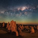 Moonlit Milky Way - Pinnacles Desert, Western Australia thumbnail